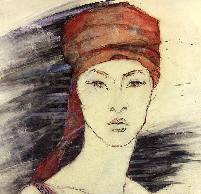 junge frau mit turban,young woman with turban
